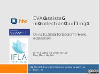 Bild: EVA assits in collection-building!